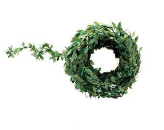 Mini Garland Christmas .  wired garland . christmas boxwood . boxwood garland wedding . dollhouse garland