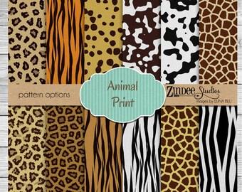 animal print Pattern Vinyl HEAT TRANSFER or ADHESIVE, htv or permanent adhesive vinyl printed vinyl
