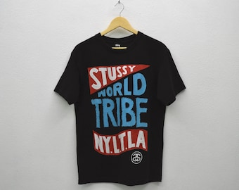 Stussy Shirt Stussy T Stussy World Tribe Relaxed T Mens Size S/M