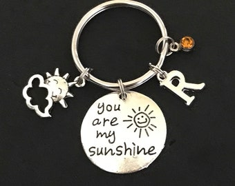 Personalized You Are My Sunshine Keychain