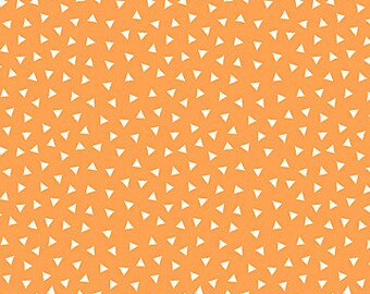 FLANNEL - Tiny Triangles on Orange from Northcott's Teepee Time Collection by Deborah Edwards