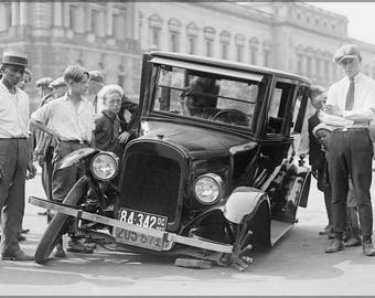 Poster, Many Sizes Available; Auto Wreck, Usa, 1923. Maryland A Chevrolet 490