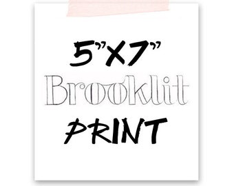5x7 Fashion Illustration Print-Brooklit-Brooke Hagel-Fashion Sketch