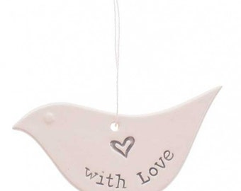 SALE!!! With Love Ceramic Dove