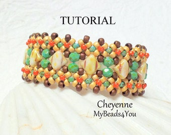 Beading Tutorial Pattern, Beading Instructions, Seed Bead Pattern, Bead Schemi, DIY, Bracelet Tutorial, Silky Beads, Patterns, MyBeads4You