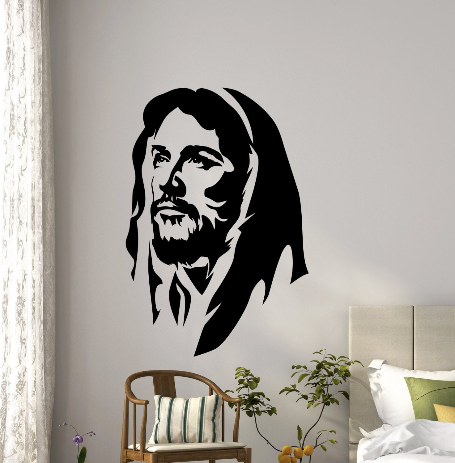 Jesus Christ Wall Vinyl Decal Religious Prayer Christian