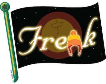"Firefly Freak Flag 4"" vinyl sticker"