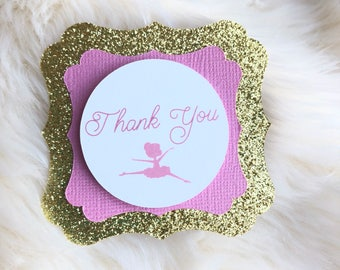Ballet Themed cupcake toppers, Dancing Theme Party