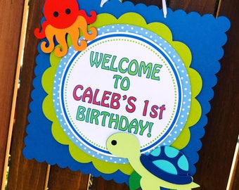 Under the Sea Welcome Door Sign - Party Sign