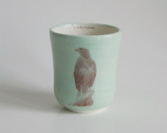 Falcon Cup Animal Cup Handmade Ceramic Cup Children's Cup Small Cup Porcelain Cup Children's Tumbler Handmade Pottery Cup Childs Cup