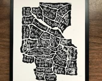 Cedar Falls, Iowa print