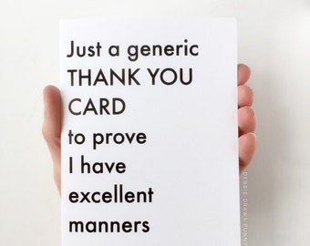 Generic Thank You Card - Funny Cards Thank You Cards - Thank You Very Much - Funny Thank You Cards - Set of Thank you cards - Thankyou Cards