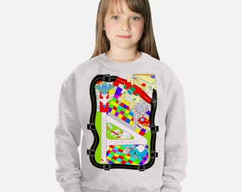 Airplane Map Kids Sweat Shirt 3 PLANES INCLUDED!!!