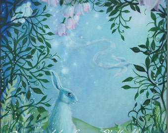 """Hare Print """"Edge of the Moongarden """""""
