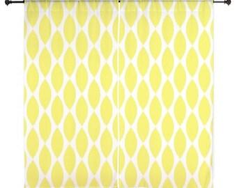 Chiffon Curtains - Yellow Curtains - Sheer Curtains - Dorm Room Curtains - Girls Bedroom - Girls Curtains - Bedroom Curtains - Teen Curtains