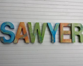 Kids Name Letters - Boy Name Letters - Girl Name Letters - Baby Name Letters - Nursery Letters