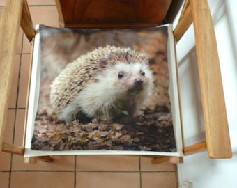 square cotton pattern Hedgehog Cushion cover