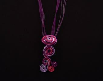 Destash: Necklace pink and purple aluminum wire