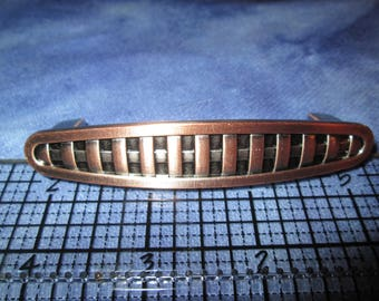 Copper tone drawer pull 3 inches on center