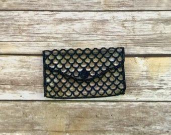 Vintage Art Deco Bags by Josef / Clear Clutch  / Make Up Bag / Vintage Pouch