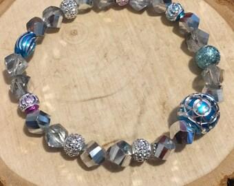 Blue Purple Silver Bracelets