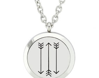Chasing Arrows Essential Oil Necklace Diffuser
