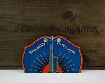 Woolworth Needle Book / Vintage Sewing Notions