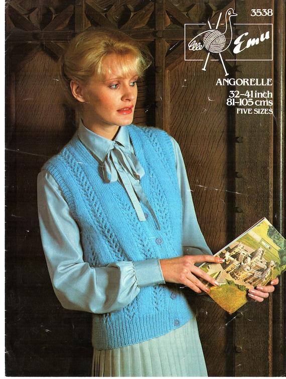 ORIGINAL de los años 70 las mujeres chaleco tejido patrón, UEM 3538 ...