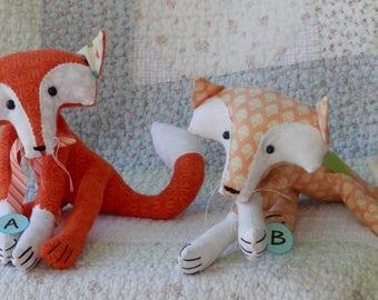 stuffed animal, animal, toy, soft toy, handmade, fox, whimsical, children, adult