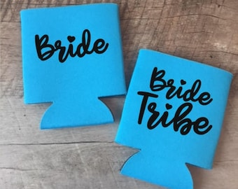Bride Tribe Can Coolers - Bachelorette Party Can Coolers - Bachelorette Party Favors - Customized Bride and Bridesmaids Gifts - Can Coolers