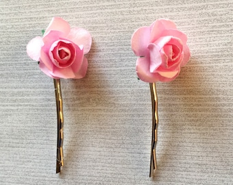 Bobby Pins,Roses,Toddler Bobby Pins,Adult Bobby Pins,Girls Bobby Pins,Baby Girls Bobby Pins,Hair Accessories,Gift,Accessories,Handmade