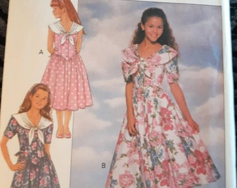 Butterick 6080, Girl's Dress Sewing Pattern