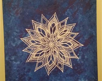 Larrge Blue Mandala