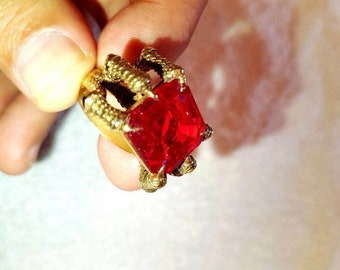 Natural Colombian ruby ring jewelry gold diamonds antique