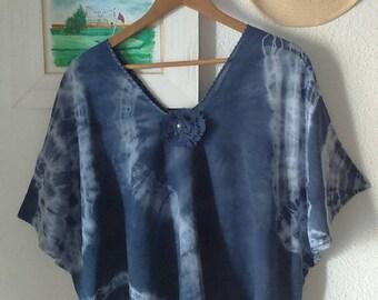 pinafore blue poncho
