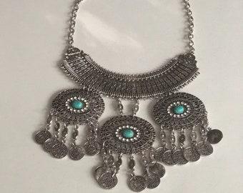 A delicate handmade neck piece