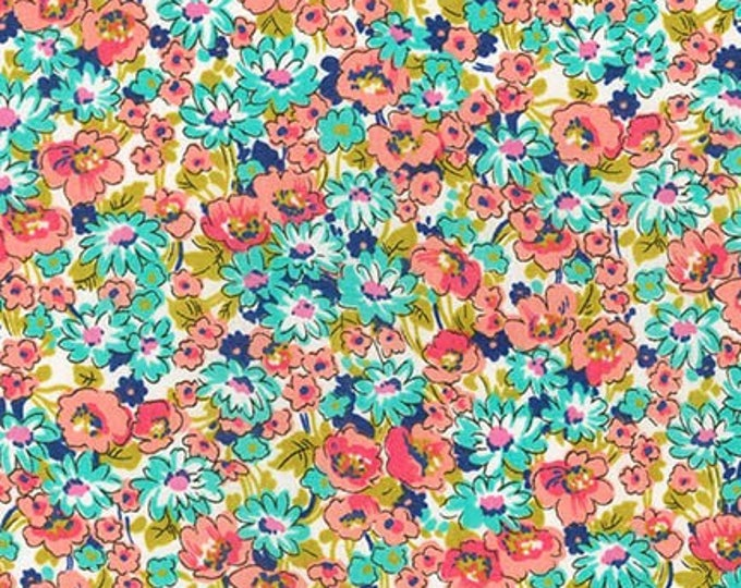 London Calling Lawn 6 - Floral Bright - 1/2 yard