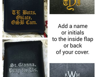 UPGRADE add a name or initials to a missal cover from my shop