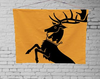 Game of Thrones Baratheon  - Custom Geek Fabric Wall Hanging Home Decor Canvas Tapestry  Wall Art Poster