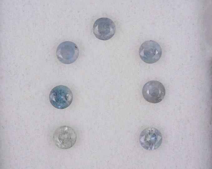 Beautiful Green Purple Alexandrite Color Change Gemstone Set from Zimbabwe, 0.83 tcw., 3 mm., Round Shape