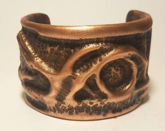 Organic Design Copper Cuff Bracelet
