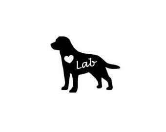 Labrador Retriever Silhouette Vinyl decal - Sticker - Personalized Decal