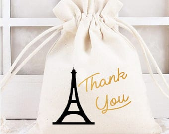 French favor, french party, french favor bag, french baby shower, french birthday, thank you bags, french party theme, french candy bag