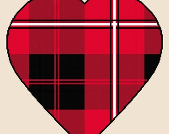 Tartan Heart cross stitch kit