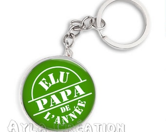 Cabochons glass 25mm #PA_BP12 dad keychain