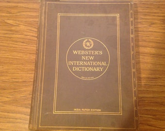 1923 Webster's New International Dictionary India Paper Edition