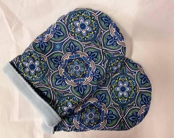 Hot Therapy Spa Mitten Set Blue Paisley