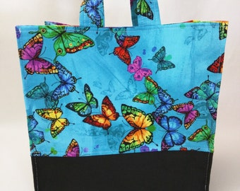 Large Nest Basket with Padded Organizer Pockets - Butterfly Uprising
