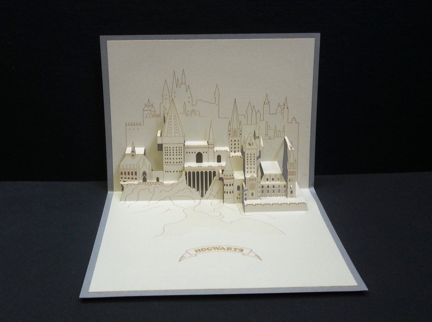 3d pop up greeting card harry potter hogwarts witchcraft zoom m4hsunfo