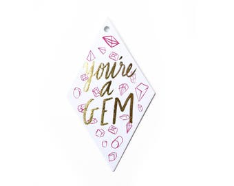 You're A Gem Gif Tags (set of 10)